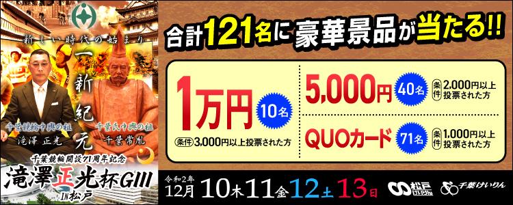 千葉競輪in松戸【G3】「滝澤正光杯」投票キャンペーン
