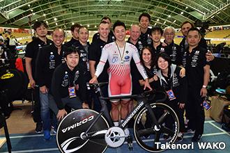 男子ケイリンで新田祐大選手が銀メダル獲得