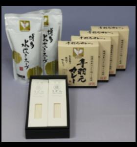 久留米地場産品(手羽元カレー・水炊きスープ・筑後うどんセット)